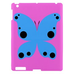 Pink Blue Butterfly Animals Fly Apple Ipad 3/4 Hardshell Case by Alisyart