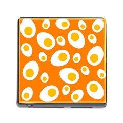 Orange Circle Egg Memory Card Reader (square) by Alisyart