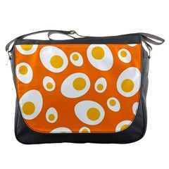 Orange Circle Egg Messenger Bags by Alisyart