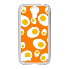 Orange Circle Egg Samsung Galaxy S4 I9500/ I9505 Case (white) by Alisyart