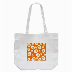 Orange Circle Egg Tote Bag (white) by Alisyart
