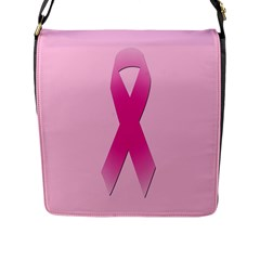 Pink Breast Cancer Symptoms Sign Flap Messenger Bag (l)  by Alisyart