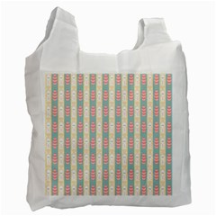 Rabbit Eggs Animals Pink Yellow White Rd Blue Recycle Bag (one Side) by Alisyart