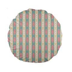 Rabbit Eggs Animals Pink Yellow White Rd Blue Standard 15  Premium Round Cushions by Alisyart