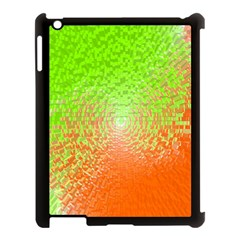 Plaid Green Orange White Circle Apple Ipad 3/4 Case (black) by Alisyart