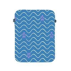 Springtime Wave Blue White Purple Floral Flower Apple Ipad 2/3/4 Protective Soft Cases by Alisyart