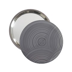 Circular Brushed Metal Bump Grey 2 25  Handbag Mirrors by Alisyart