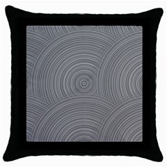 Circular Brushed Metal Bump Grey Throw Pillow Case (black) by Alisyart