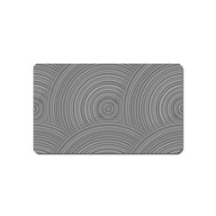 Circular Brushed Metal Bump Grey Magnet (name Card) by Alisyart