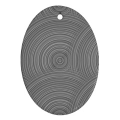Circular Brushed Metal Bump Grey Oval Ornament (two Sides) by Alisyart