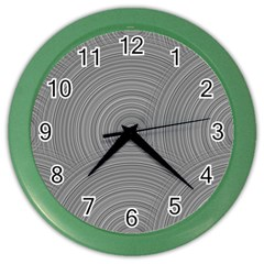 Circular Brushed Metal Bump Grey Color Wall Clocks by Alisyart