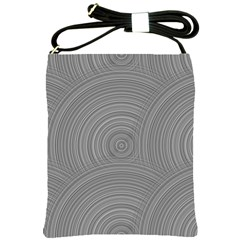 Circular Brushed Metal Bump Grey Shoulder Sling Bags by Alisyart