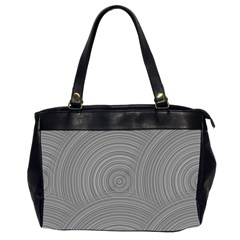 Circular Brushed Metal Bump Grey Office Handbags (2 Sides)  by Alisyart