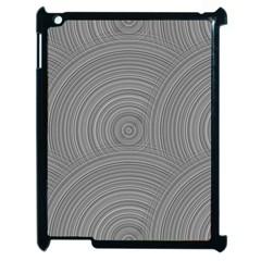 Circular Brushed Metal Bump Grey Apple Ipad 2 Case (black) by Alisyart