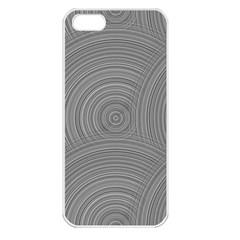 Circular Brushed Metal Bump Grey Apple Iphone 5 Seamless Case (white) by Alisyart