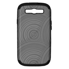 Circular Brushed Metal Bump Grey Samsung Galaxy S Iii Hardshell Case (pc+silicone) by Alisyart