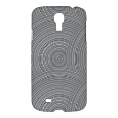 Circular Brushed Metal Bump Grey Samsung Galaxy S4 I9500/i9505 Hardshell Case by Alisyart