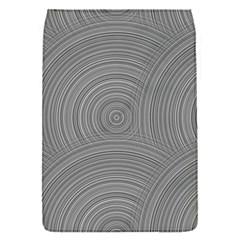 Circular Brushed Metal Bump Grey Flap Covers (s)  by Alisyart