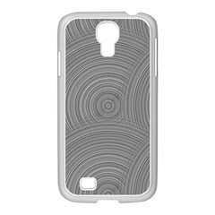 Circular Brushed Metal Bump Grey Samsung Galaxy S4 I9500/ I9505 Case (white) by Alisyart