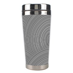 Circular Brushed Metal Bump Grey Stainless Steel Travel Tumblers by Alisyart