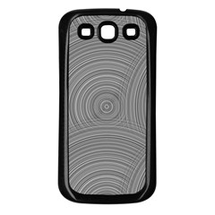 Circular Brushed Metal Bump Grey Samsung Galaxy S3 Back Case (black) by Alisyart