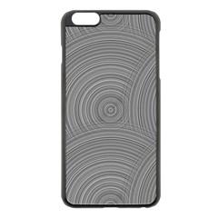 Circular Brushed Metal Bump Grey Apple Iphone 6 Plus/6s Plus Black Enamel Case by Alisyart
