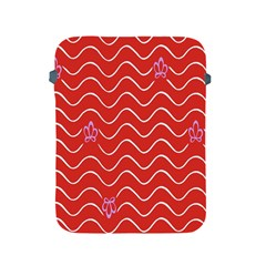 Springtime Wave Red Floral Flower Apple Ipad 2/3/4 Protective Soft Cases by Alisyart