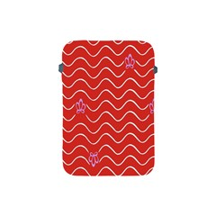 Springtime Wave Red Floral Flower Apple Ipad Mini Protective Soft Cases by Alisyart