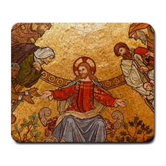 Gold Jesus Large Mousepads by boho