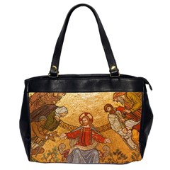 Gold Jesus Office Handbags (2 Sides)  by boho