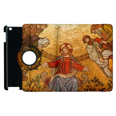 Gold Jesus Apple Ipad 3/4 Flip 360 Case by boho