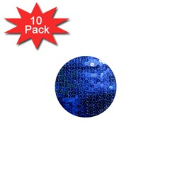 Blue Sequins 1  Mini Magnet (10 Pack)  by boho