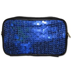 Blue Sequins Toiletries Bags by boho