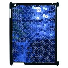 Blue Sequins Apple Ipad 2 Case (black) by boho