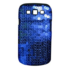 Blue Sequins Samsung Galaxy S Iii Classic Hardshell Case (pc+silicone) by boho