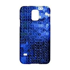 Blue Sequins Samsung Galaxy S5 Hardshell Case  by boho