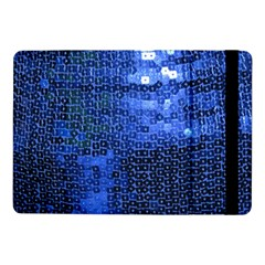 Blue Sequins Samsung Galaxy Tab Pro 10 1  Flip Case by boho