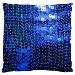 Blue Sequins Standard Flano Cushion Case (two Sides) by boho