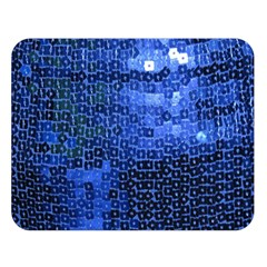 Blue Sequins Double Sided Flano Blanket (large)  by boho