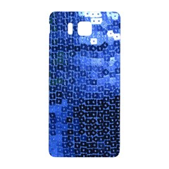 Blue Sequins Samsung Galaxy Alpha Hardshell Back Case by boho