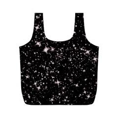 Black Stars Full Print Recycle Bags (m)  by boho