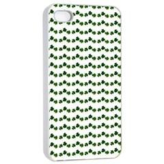 Shamrock Apple Iphone 4/4s Seamless Case (white) by boho