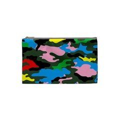 Rainbow Camouflage Cosmetic Bag (small)  by boho