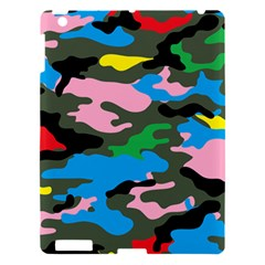 Rainbow Camouflage Apple Ipad 3/4 Hardshell Case by boho