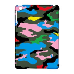 Rainbow Camouflage Apple iPad Mini Hardshell Case (Compatible with Smart Cover) by boho
