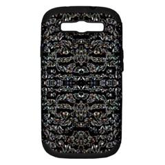 Black Diamonds Samsung Galaxy S Iii Hardshell Case (pc+silicone) by boho