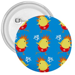 Easter Chick 3  Buttons by boho