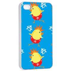 Easter Chick Apple Iphone 4/4s Seamless Case (white) by boho