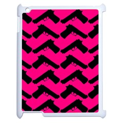 Pink Gun Apple Ipad 2 Case (white) by boho