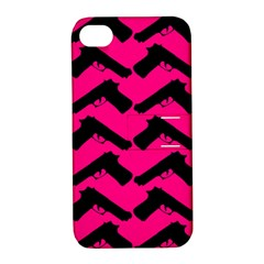 Pink Gun Apple Iphone 4/4s Hardshell Case With Stand